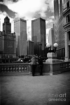 Photograph - People And Skyscrapers by Frank J Casella