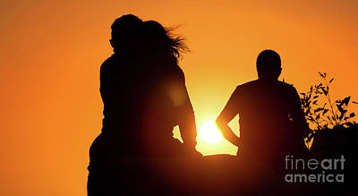Photograph - People At Sunset by Gualtiero Boffi