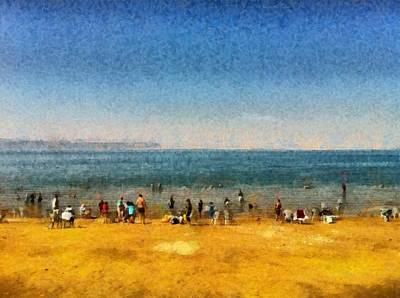 Photograph - People At The Beach by Ashish Agarwal