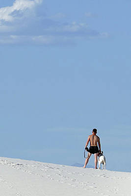 Photograph - People At White Sands 31 by Jeff Brunton