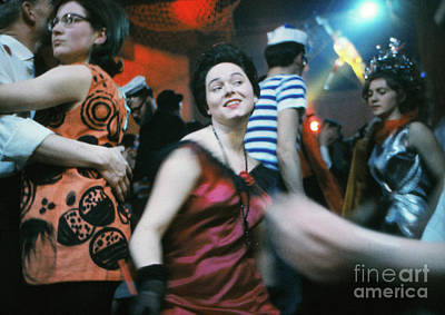 Nightlife Photograph - People Dancing At Fasching Festival by The Harrington Collection