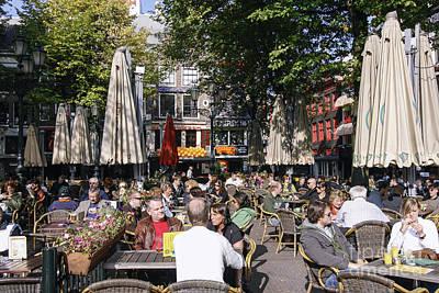 People Enjoying S Sunny Day In Amsterdam Art Print