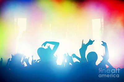 Music Concert Photograph - People Having Fun In Night Club by Michal Bednarek