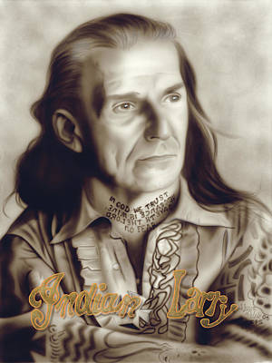 Indian Larry Painting - People- Indian Larry by Shawn Palek