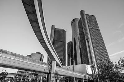 Photograph - People Mover And Reniassance Ceter Detroit by John McGraw