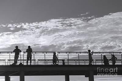 Photograph - People On A Bridge by Yali Shi