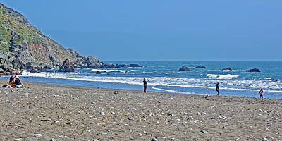 Photograph - People On Muir Beach In Muir Woods National Monument, California by Ruth Hager