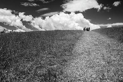 Photograph - People On The Hill Bw by Joan Carroll