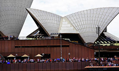 Photograph - People Outside Opera House Watching The Harbour  by Miroslava Jurcik