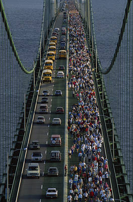 School Bus Photograph - People Participating In The Annual by Phil Schermeister