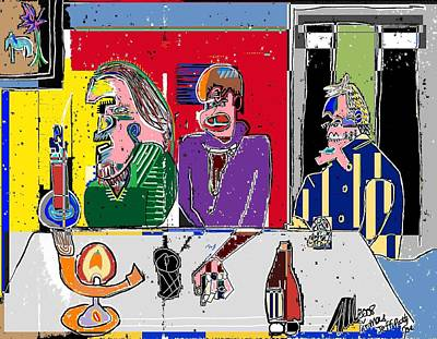 People Places Parties Politics 2008 Art Print by Michael OKeefe