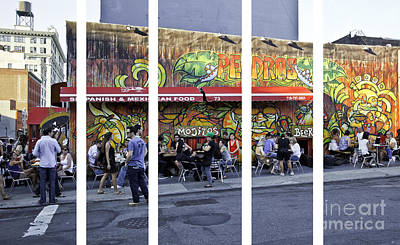 Mojito Photograph - People Polyptych by Madeline Ellis