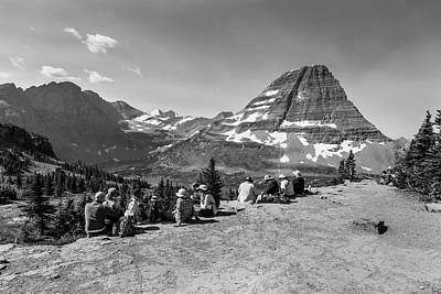 Photograph - People Relaxing At Hidden Lake In Glacier National Park by John McGraw