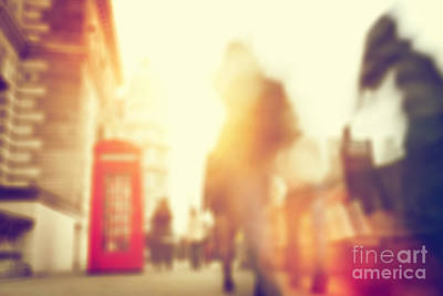 Walk Photograph - People Rush On A Busy Street Of London by Michal Bednarek