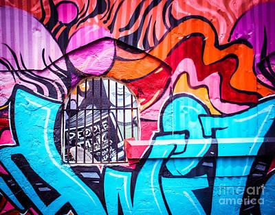 Urban Art Photograph - People Talk About Graffiti by Sonja Quintero