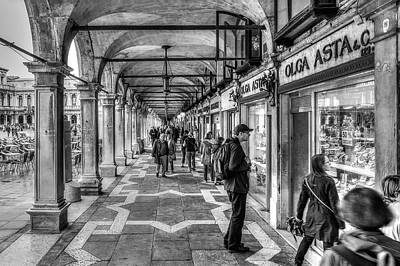 Photograph - People Under The Arcade by Roberto Pagani