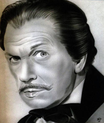 Vincent Price Painting - People- Vincent Price by Shawn Palek