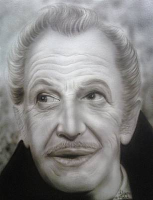 Vincent Price Painting - People- Vincent Price2 by Shawn Palek