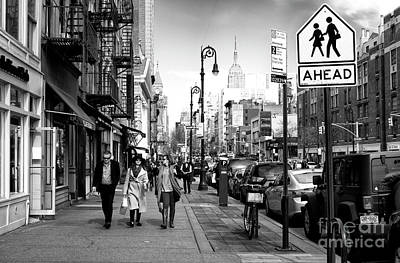 Photograph - People Walking Ahead by John Rizzuto