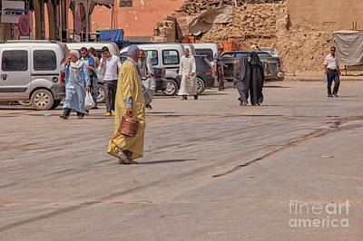 Photograph - People Walking On The Streets In Morocco by Patricia Hofmeester