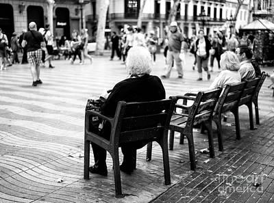 Photograph - People Watching On La Rambla by John Rizzuto