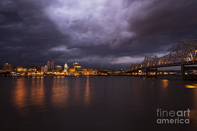 Spririt Photograph - Peoria Dramatic Skyline by Andrea Silies