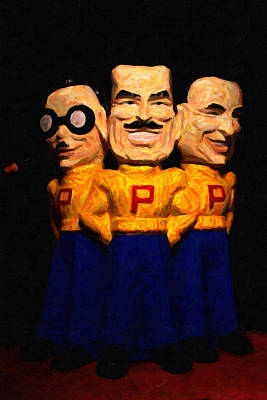 Pep Boys - Manny Moe Jack - Painterly - 7d17428 Art Print by Wingsdomain Art and Photography