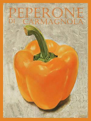 Royalty Free Images - peperone di Carmagnola Royalty-Free Image by Guido Borelli