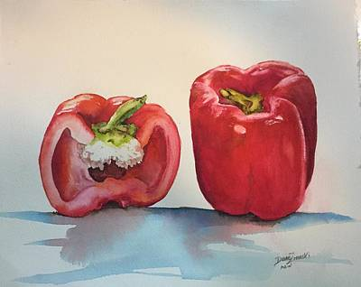 Painting - Pepper And Half by Diane Ziemski