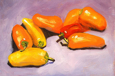 Painting - Pepper Lounge Still Life by Nancy Merkle