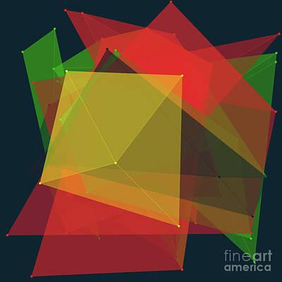 Pepper Polygon Pattern Print by Frank Ramspott