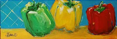 Painting - Pepper Trio by Terri Einer