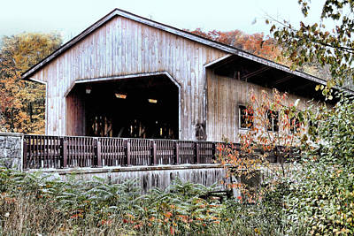 Photograph - Pepperell Covered Bridge  by Janice Drew