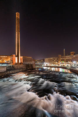 Southern Maine Photograph - Pepperell Mill At Night by Benjamin Williamson