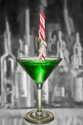 Digital Art - Peppermint Pole Dancer Swizzle Stick by John Haldane