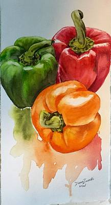 Painting - Peppers 3 by Diane Ziemski