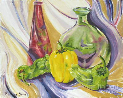 Painting - Peppers And Passion by Lisa Boyd