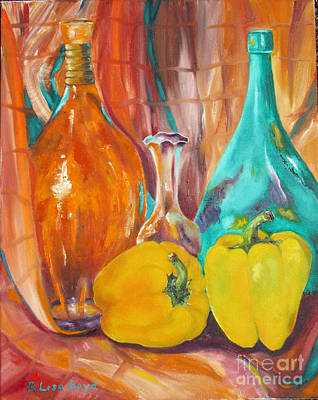 Painting - Peppers And Vases by Lisa Boyd