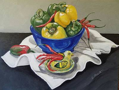 Painting - Peppers by Laura Aceto