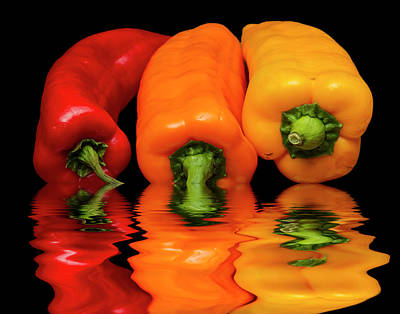 Art Print featuring the photograph Peppers Red Yellow Orange by David French