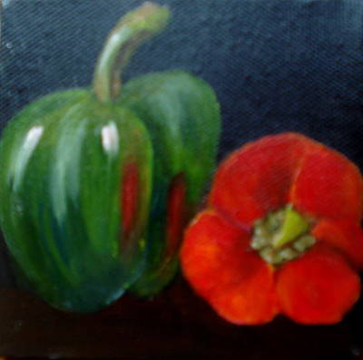 Painting - Peppers by Susan Dehlinger