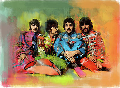 Painting - Peppers  The Beatles by Iconic Images Art Gallery David Pucciarelli