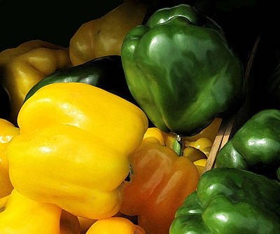 Bath Time - Peppers Yellow And Green by Ian  MacDonald