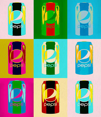 Painting - Pepsi Can Pop Art by Dan Sproul