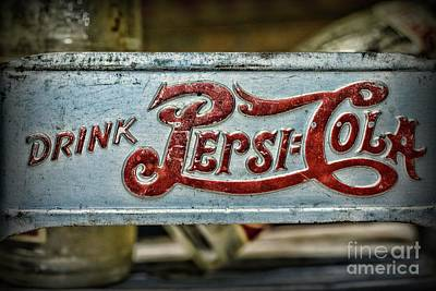 Photograph - Pepsi Double Dot Metal Carrier Close Up  by Paul Ward