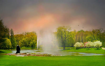 Photograph - Sunset Fountain by Diana Angstadt
