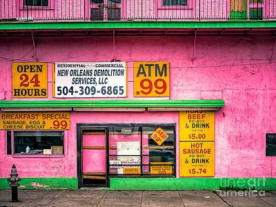 Photograph - Pepto Pink Facade - Nola by Kathleen K Parker