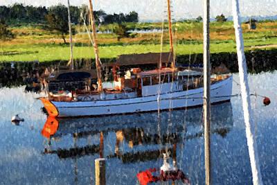 Painting - Pequot Yacht Basin by Gary Grayson