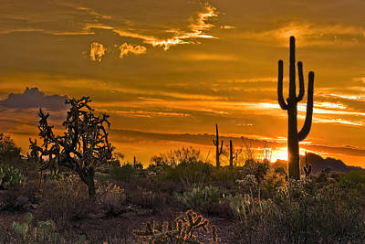 Desert Sunset Photograph - Peralta Arizona Sunset by Dave Dilli