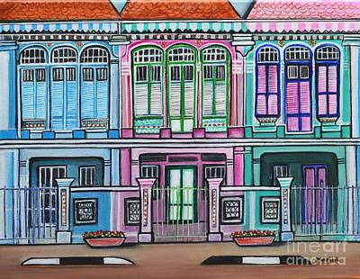 Painting - Peranakan Mansion Singapore by Manjiri Kanvinde